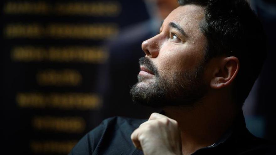 El artista flamenco Miguel Poveda, este martes, durante una entrevista concedida a Efe.
