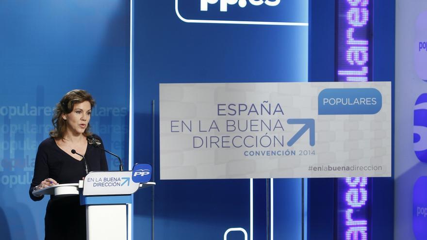 """Cospedal defiende la """"claridad"""" sobre las cuentas regionales, mediante balanzas fiscales o de otra forma"""