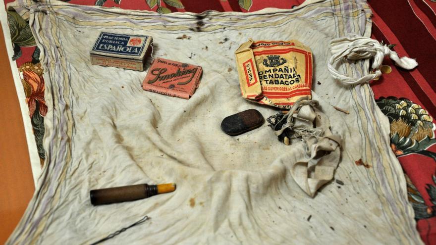Todos los objetos que guardaba Heliodoro Meneses el día de su fusilamiento.
