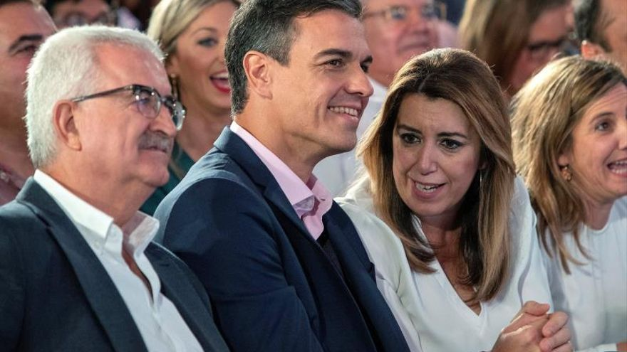 Sánchez respalda a Díaz en el que podría ser su único mitin de campaña