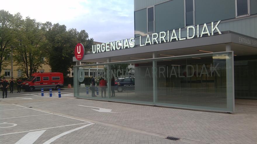 Entrada al nuevo edificio de Urgencias del Complejo Hospitalario de Navarra.