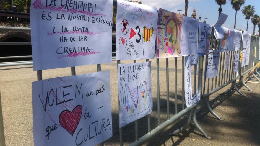 Matí a la festa reivindicativa dels treballadors de TV3 / João França
