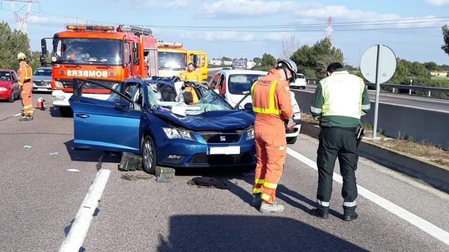 Imagen de un accidente en el by-pass valenciano