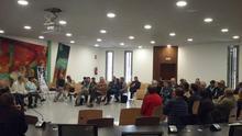 Asamblea de Alto Aragón en Común celebrada en Binéfar.