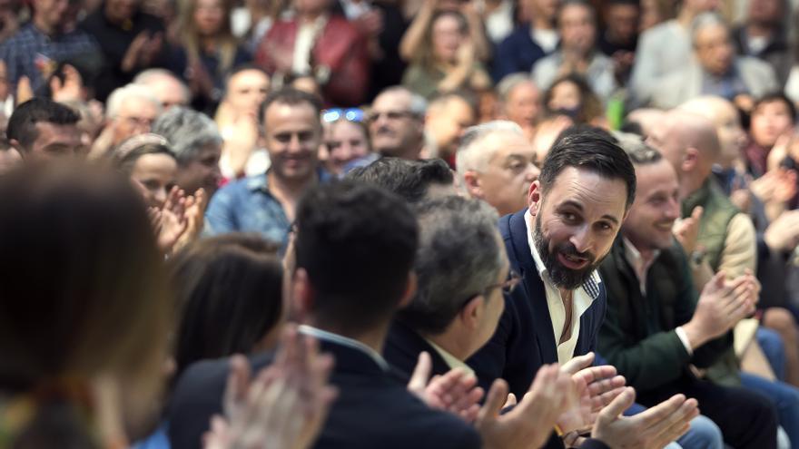 Santiago Abascal en un acto de Vox en Burgos