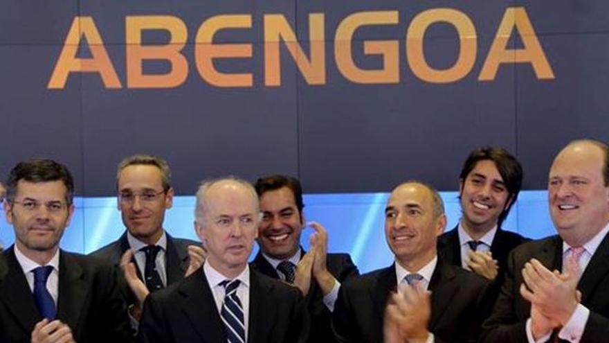 Felipe Benjumea, durante el debut de Abengoa en la bolsa estadounidense Nasdaq