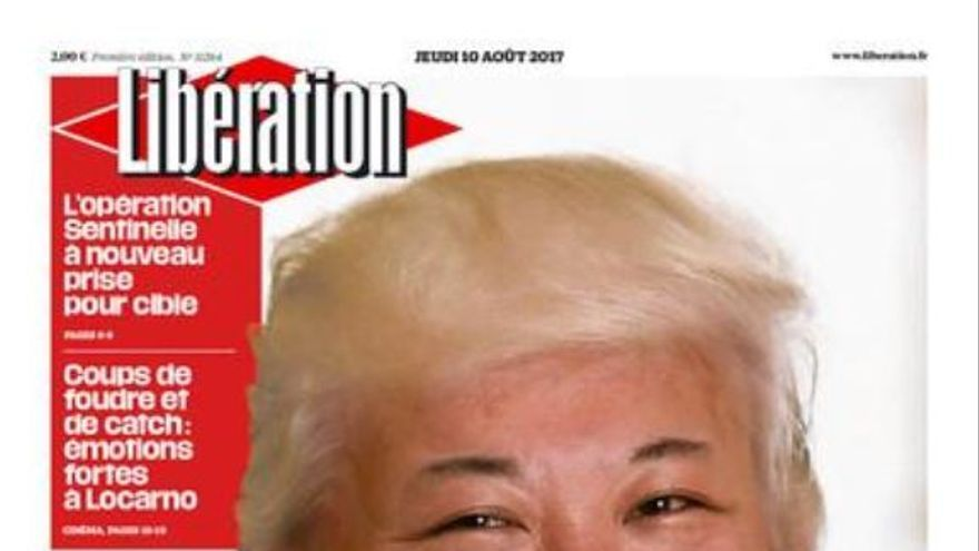 Portada de Libération con Kim Jong-Un con el peinado de Donald Trump