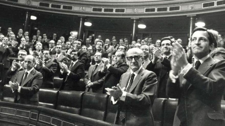 El Congreso de los Diputados aprueba la Constitución en 1978. (EFE)