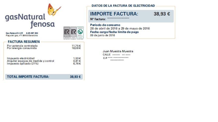 C mo entender tu factura energ tica for Gas natural servicios