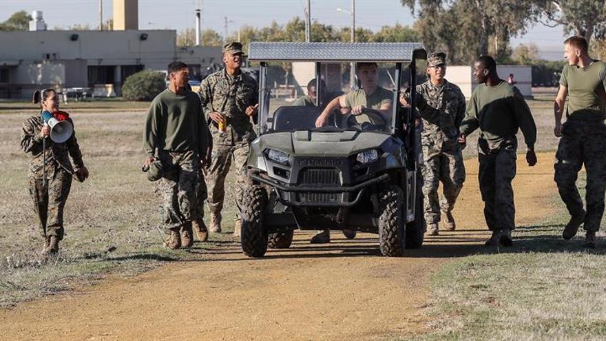 Los marines de EEUU en Morón abren por primera vez sus puertas en España