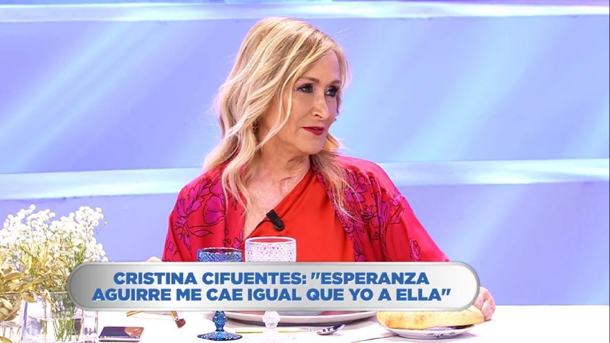 Cristina Cifuentes, en 'La última cena'