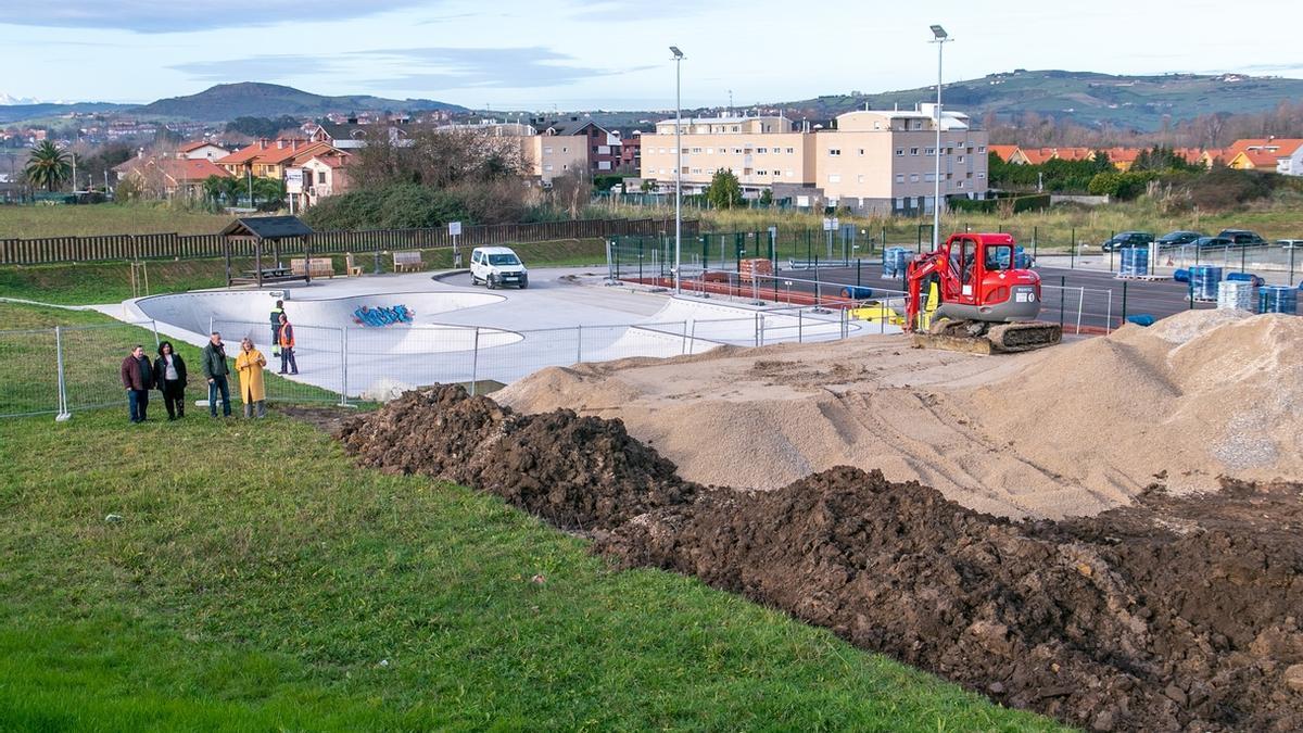 Obras del Pump Track de Polanco en Requejada
