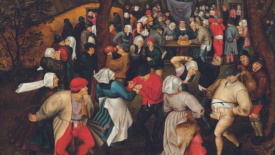 Baile nupcial al aire libre, Pieter Brueghel el joven (1610) cortesía Galería Elvira González
