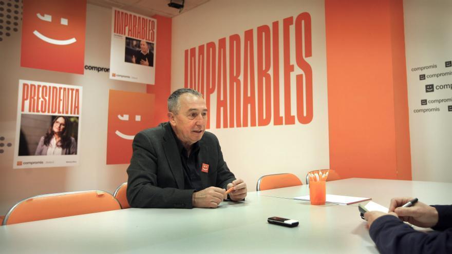 Joan Baldoví durante la entrevista.