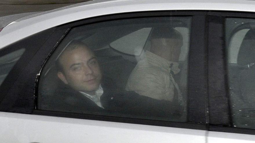 Carromero a su llegada a la prisión de Segovia el 29 de diciembre
