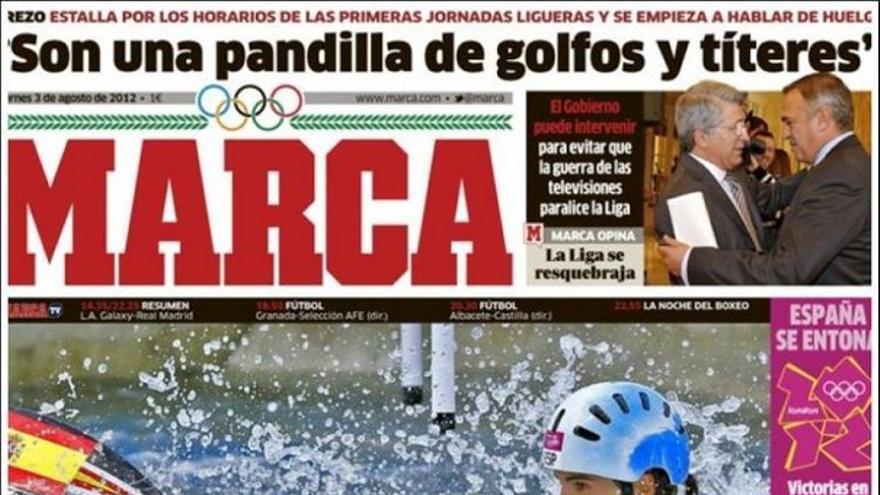De las portadas del día (03/08/2012) #12