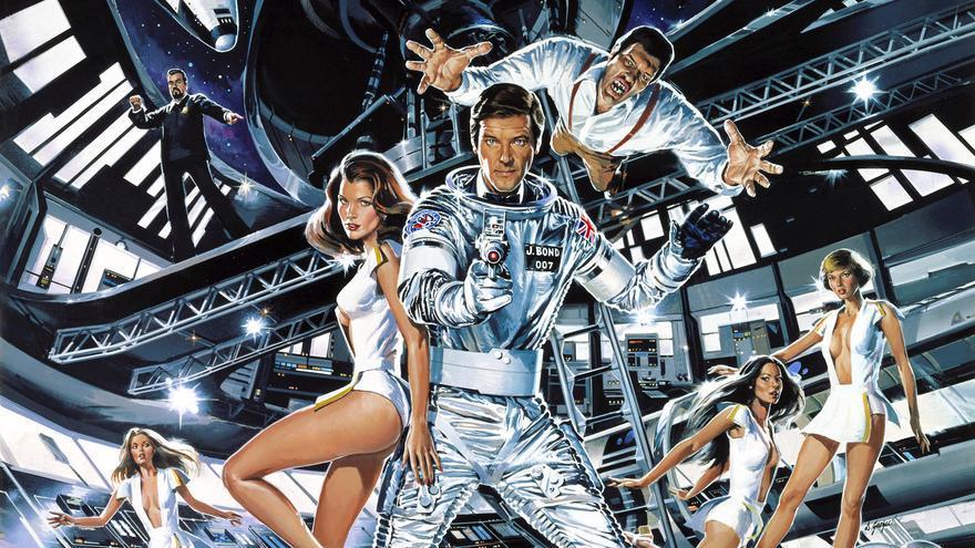 Cartel publicitario de la película 'Moonraker', la undécima película de la saga de James Bond