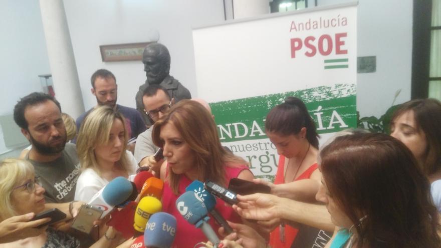 Susana Díaz presenta su precandidatura para revalidarse como líder del PSOE-A.