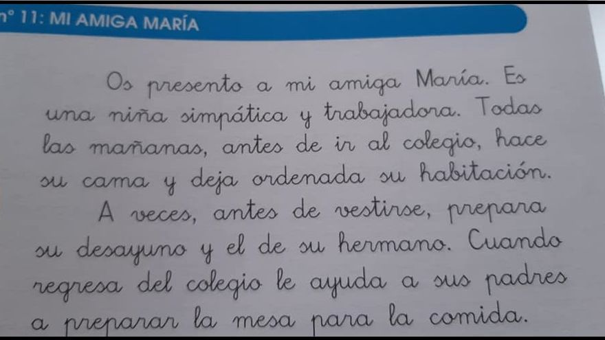 Descripción de María en el libro 'Mis Lecturas Favoritas. 2.2'