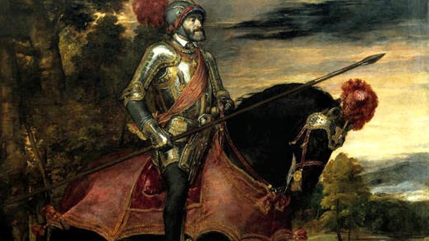 El emperador Carlos V, a caballo, en Mühlberg, Tiziano, 1548, óleo / Museo del Prado