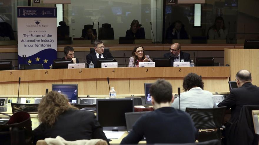 Ximo Puig durante su participación en el Comité de las Regiones en Bruselas