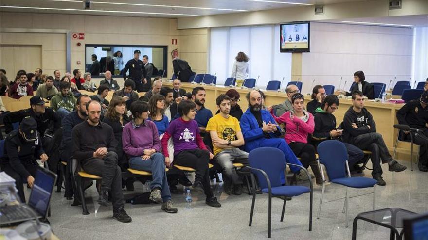 Un momento del juicio en la Audiencia Nacional contra los 19 acusados.