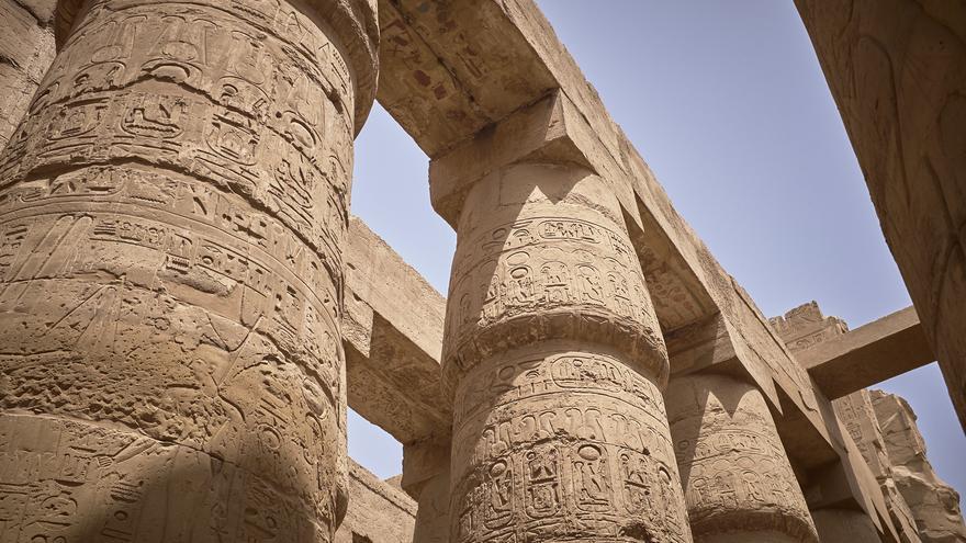 La columnata más famosa del mundo: En Karnak, las columnas emulan un gran bosque. Kai 'Oswald' Seidler