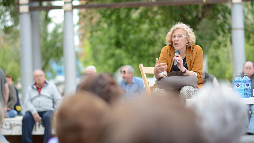 Carmena, durante un encuentro ciudadano | AHORA MADRID