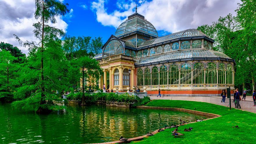 El Palacio de Cristal, ubicado en El Retiro, fue construido 1887 con motivo de la Exposición de las Islas Filipinas.