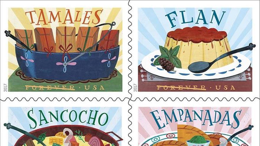 El servicio Postal de EEUU rinde tributo a la gastronomía latina