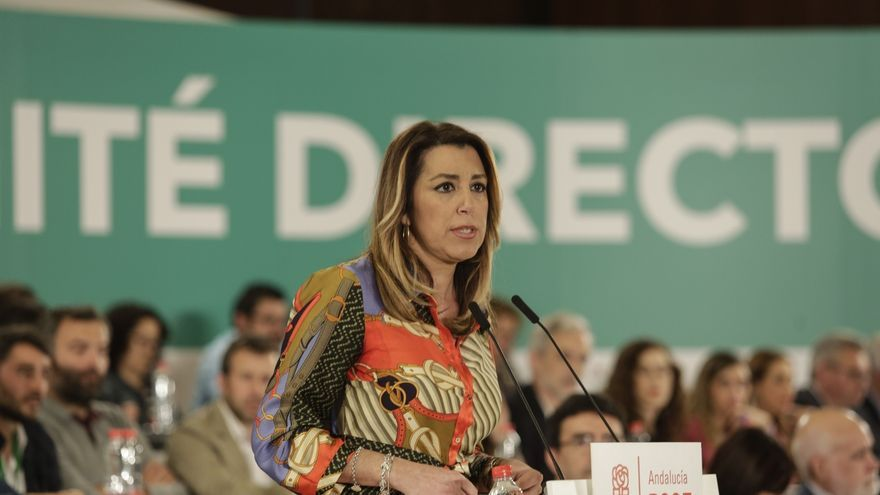 """Susana Díaz denuncia que la """"mentira, la difamación y el montaje"""" marcan las actuaciones del Gobierno de Moreno"""