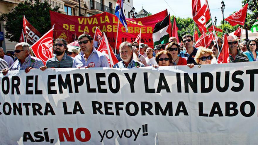 Manifestación del 1 de mayo en Sevilla.