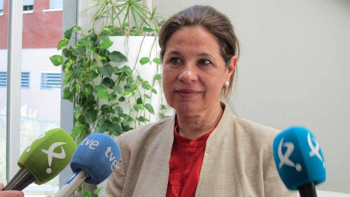 Pilar Blanco-Morales, vicepresidenta primera y consejera de Hacienda de la Junta de Extremadura.