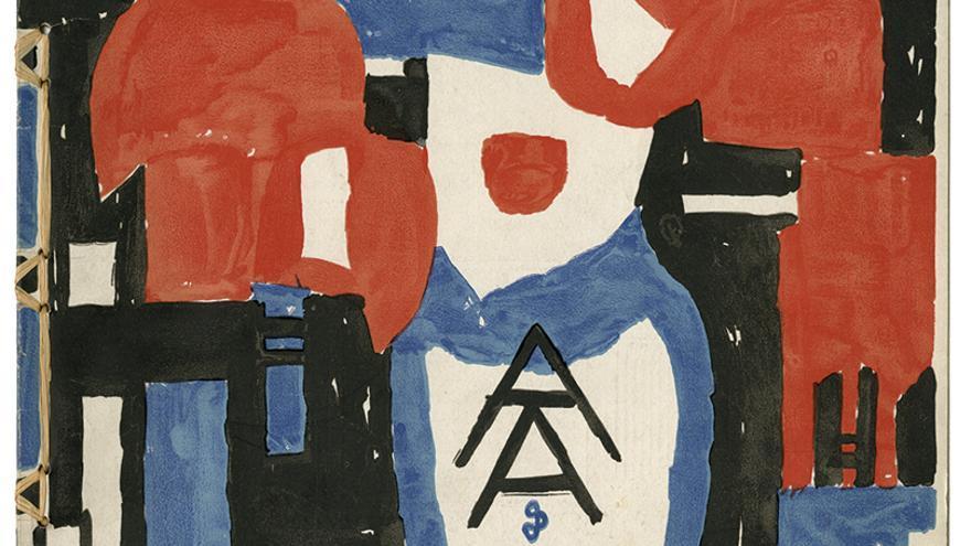 Jan Sluijters (il.): Wendingen, serie 5, n.º 2, Hooge Brug, Ámsterdam, 1923