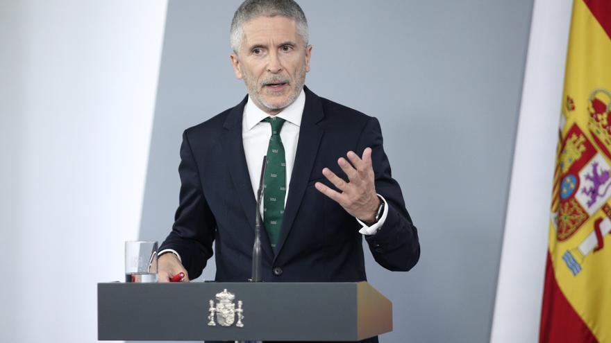 El ministro del Interior, Fernando Grande-Marlaska, en una comparecencia.