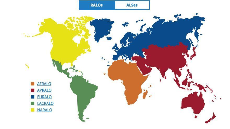 Mapa de los diferentes RALOS