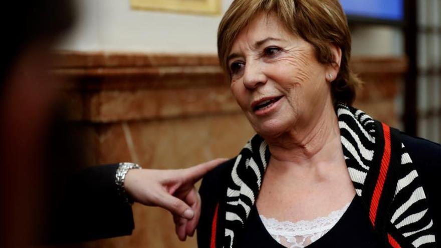 Celia Villalobos, este miércoles, tras anunciar que deja la política.