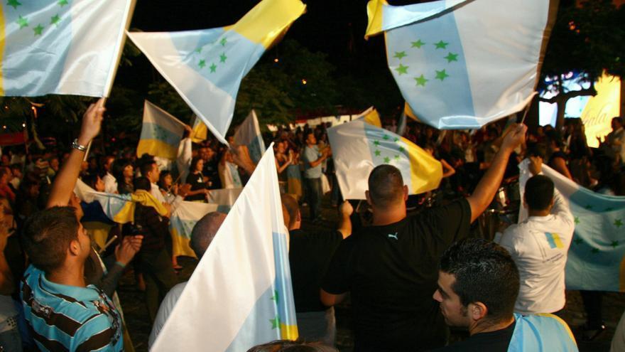 Manifestación por la independencia de Canarias.