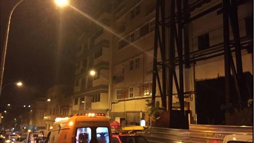 Edificio afectado en la calle Pérez de Rozas de Santa Cruz de Tenerife.