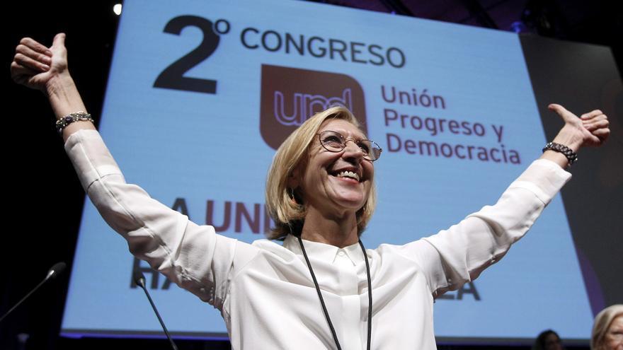 La portavoz de UPyD, Rosa Díez, en el congreso de su partido en noviembre. / Efe