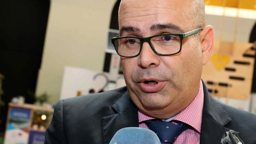 El director comercial de Naviera Armas para la parte de carga, Jaime Cabrera,.