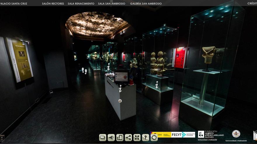 Sala Renacimiento del Museo de Arte Africano (Valladolid), que puede verse a través de la visita virtual inmersiva que ofrecen en su página web.
