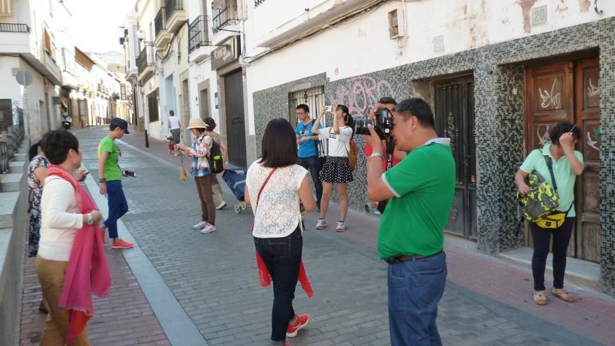 Turistas japoneses Mérida Extremadura