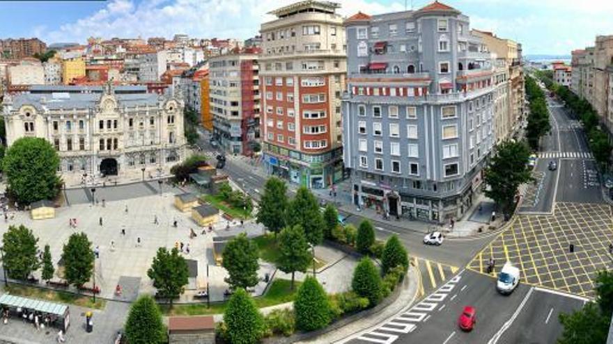 Plaza del Ayuntamiento, en el centro de Santander. | AYUNTAMIENTO DE SANTANDER