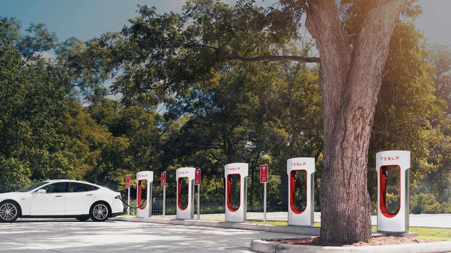 Supercargadores Tesla.