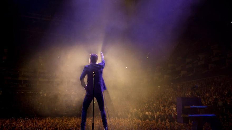 Un instante del último concierto de The Killers en Londres