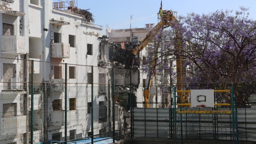 Trabajos de demolición en Tamarecite