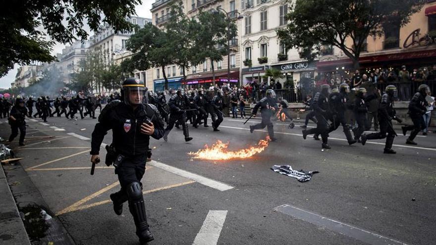 Pierde un ojo un sindicalista que se manifestó ayer contra la reforma laboral francesa