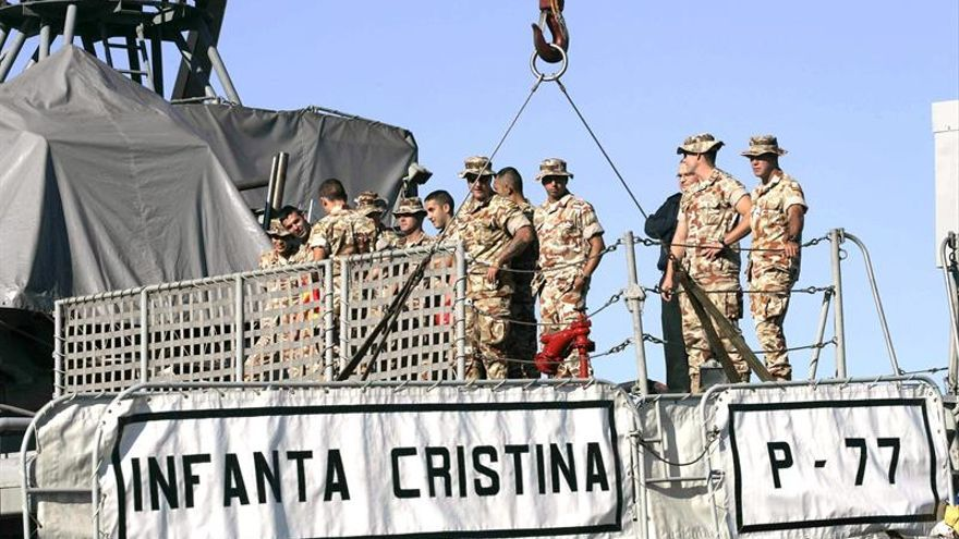 Atraca en Cartagena el patrullero Infanta Cristina tras su despliegue 4 meses