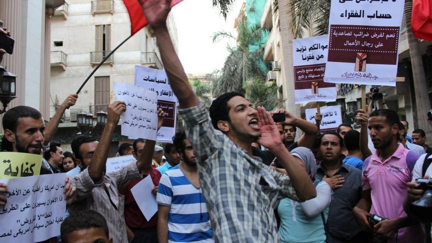 Reciente protesta en Egipto contra el FMI (Foto cedida por Gigi Ibrahim)
